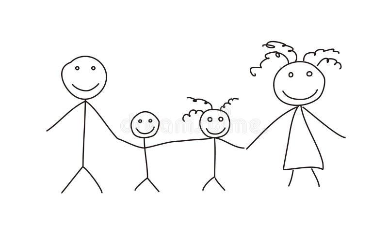 провод семьи иллюстрация вектора