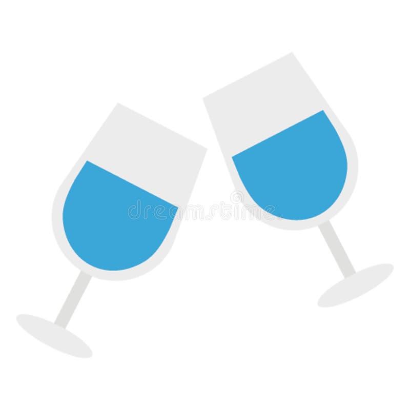 Провозглашающ тост значок вектора цвета легко доработайте или отредактируйте иллюстрация штока