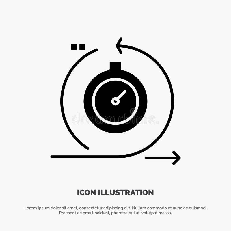 Проворный, цикл, развитие, быстрое, вектор значка глифа итерирования твердый иллюстрация вектора