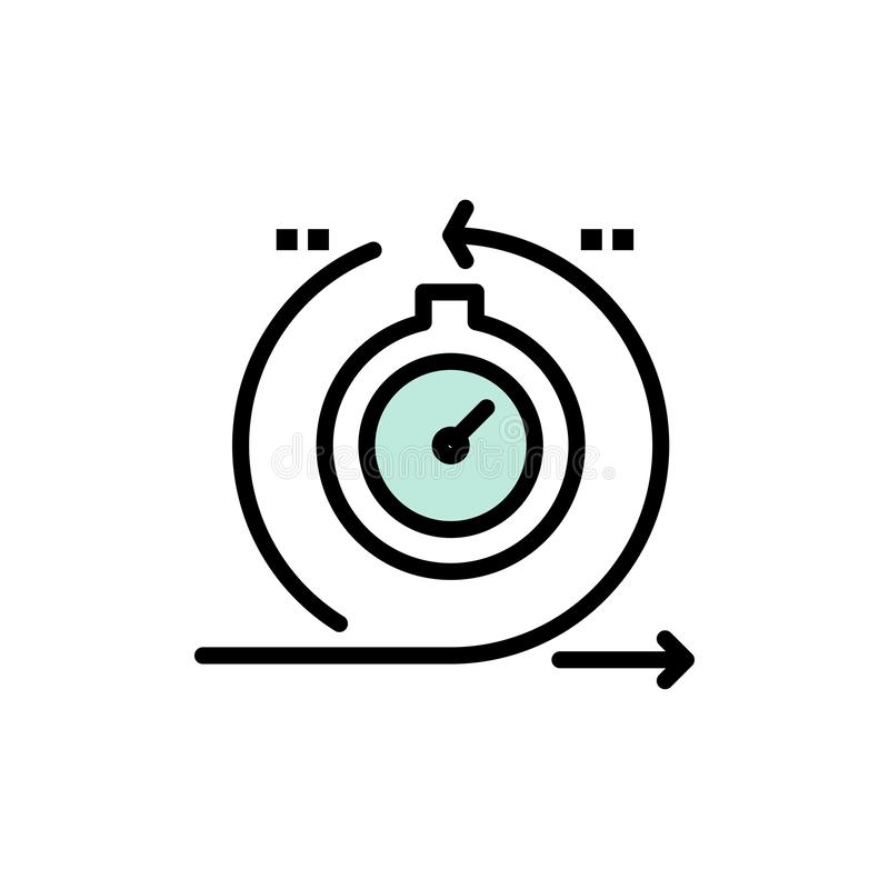 Проворный, цикл, развитие, быстрое, значок цвета итерирования плоский Шаблон знамени значка вектора иллюстрация вектора