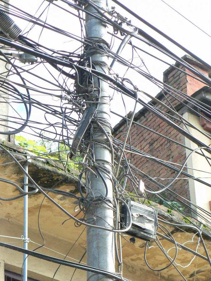 Провода электричества стоковая фотография rf