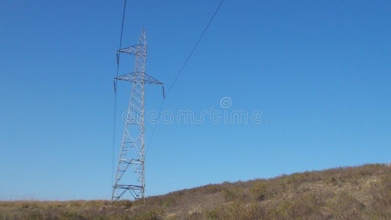 Провод удара голубого неба @ стоковое изображение rf