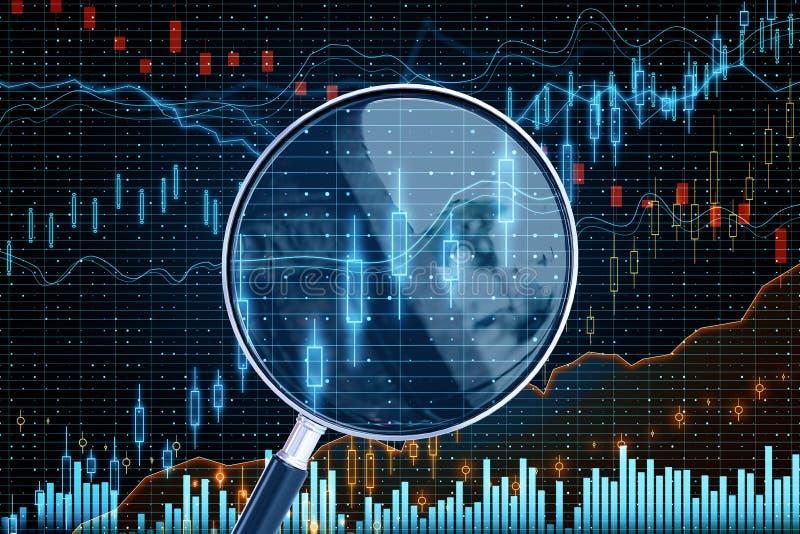 Прогноз и концепция stats стоковые изображения rf