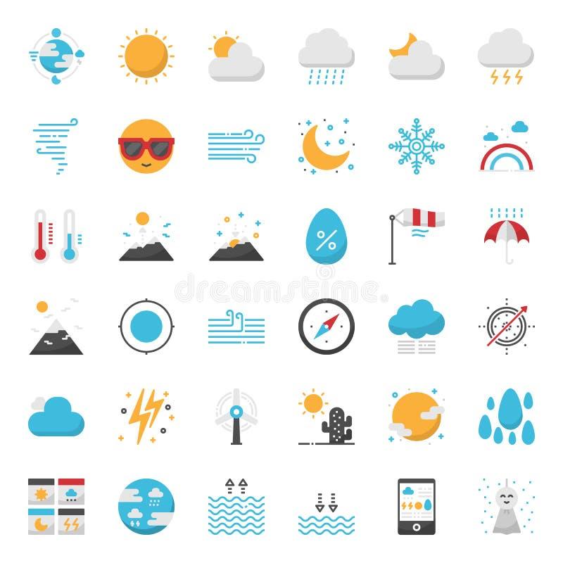 Прогноз погоды иллюстрация штока