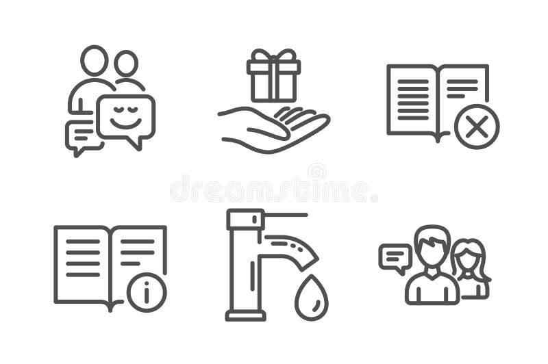 Программа воды из крана, преданности и значки связи набор Техническая информация, книга брака и знаки людей говоря r бесплатная иллюстрация
