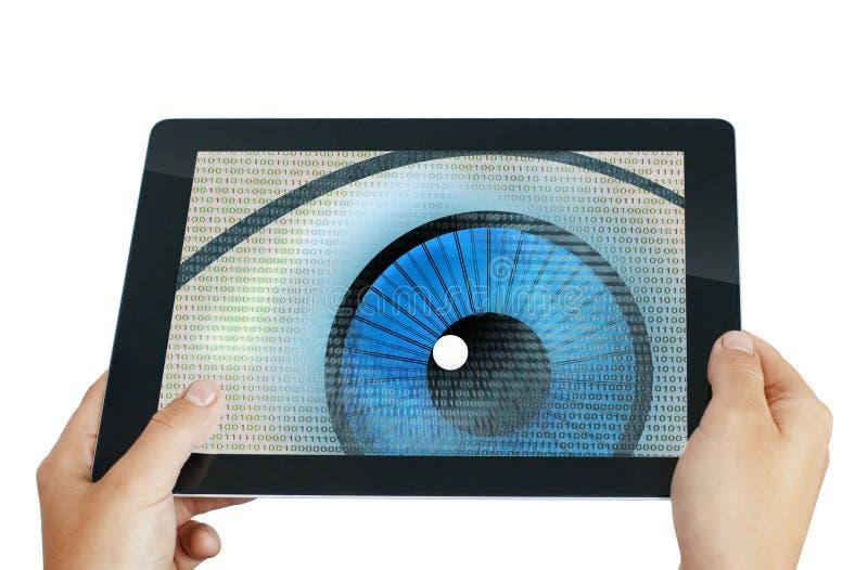 Программа глаза шпионки иллюстрация вектора