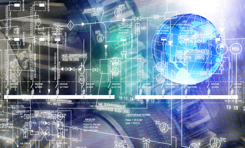 Програмное обеспечение инженерного проектирования стоковое изображение