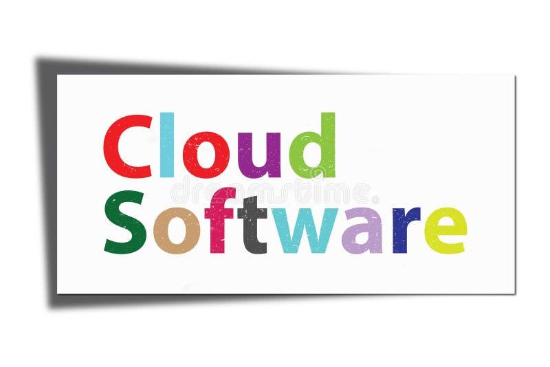 Програмное обеспечение облака бесплатная иллюстрация