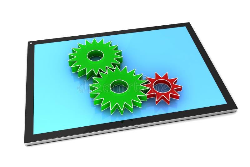 Програмное обеспечение ПК таблетки - схематическое изображение бесплатная иллюстрация
