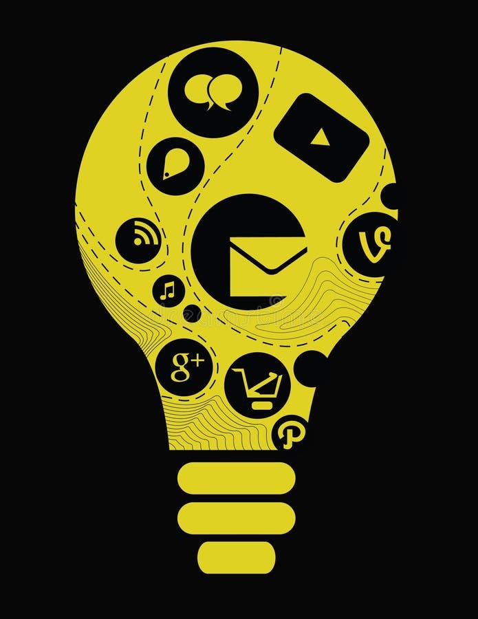 Програмное обеспечение для предприятий и социальная концепция средств массовой информации бесплатная иллюстрация