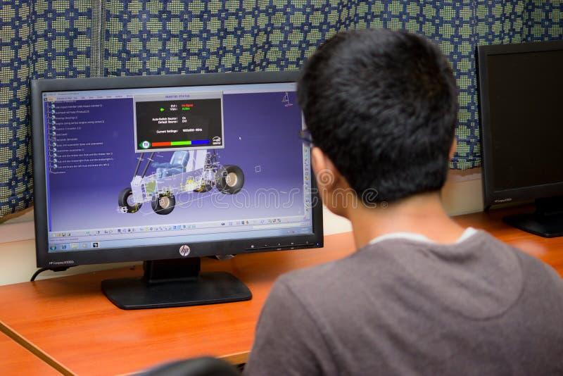 Програмное обеспечение CAD для инженера и дизайнера стоковое фото rf