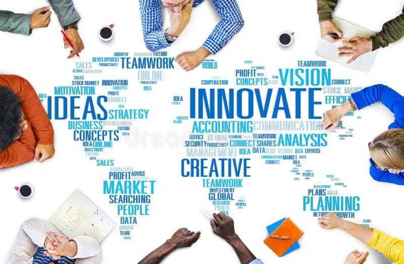 Прогресс идей творческих способностей воодушевленности нововведения Innovate Concep стоковые фотографии rf