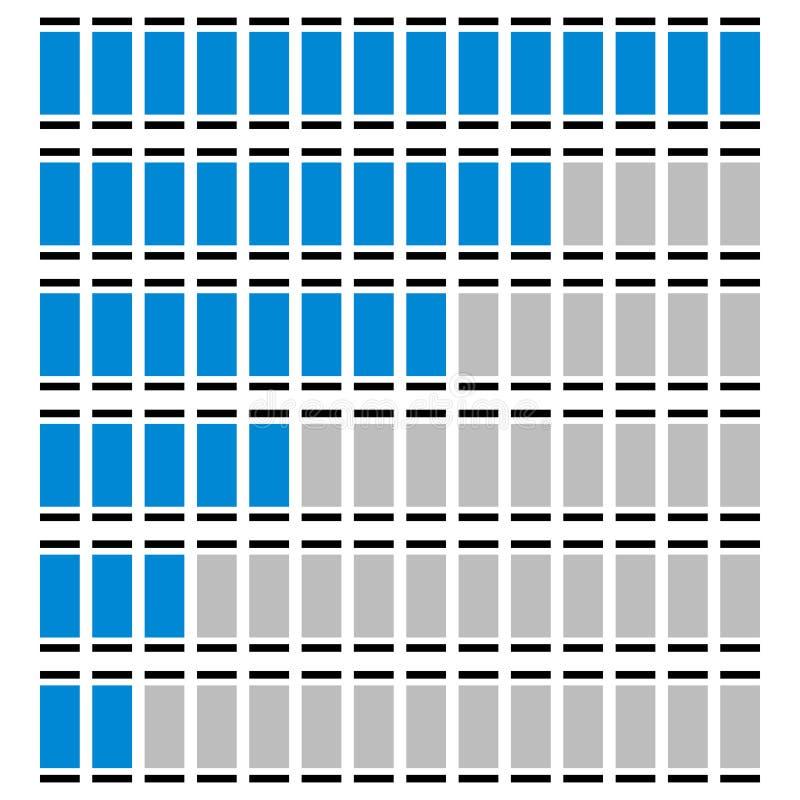 Download Прогресс, ровные индикаторы - датчики, метры в последовательности Иллюстрация вектора - иллюстрации насчитывающей горизонтально, индикация: 81806622