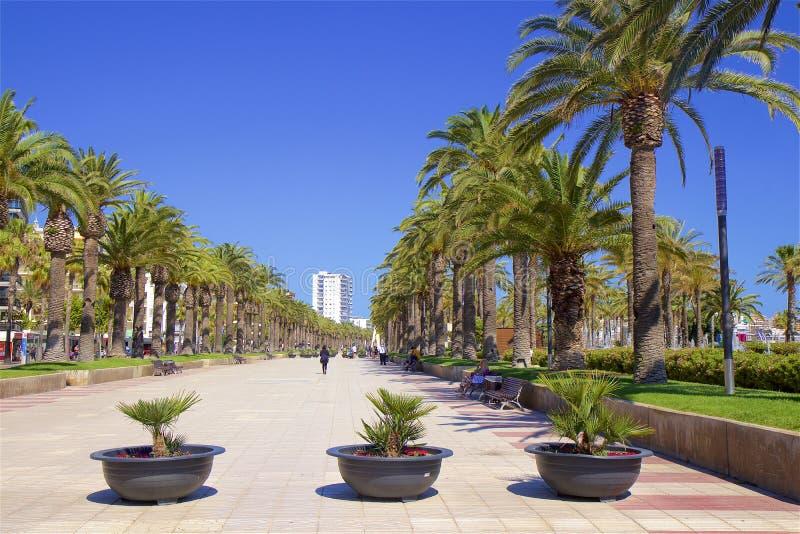 Прогулка в Salou, Испании стоковое фото rf