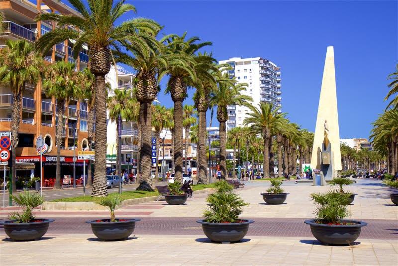 Прогулка в Salou, Испании стоковая фотография