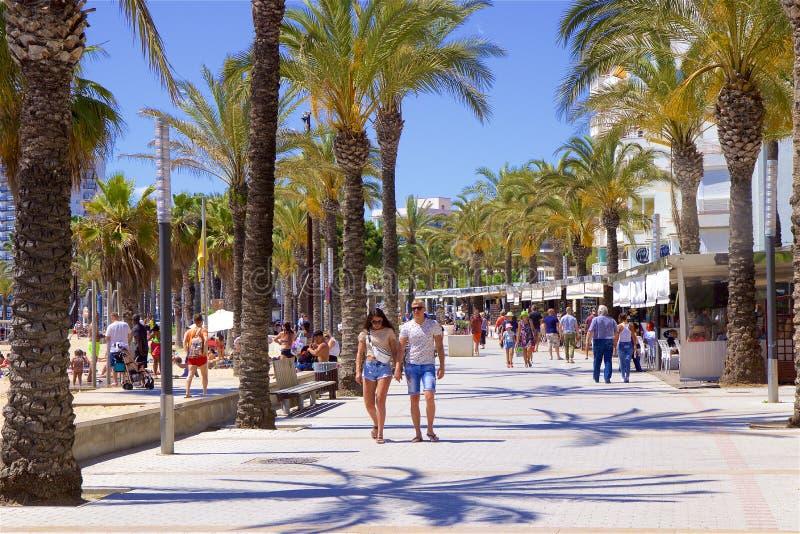 Прогулка в Salou, Испании стоковые изображения rf