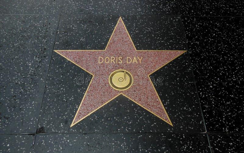 Прогулка Голливуд дня Дорис звезды славы для музыки стоковые фото