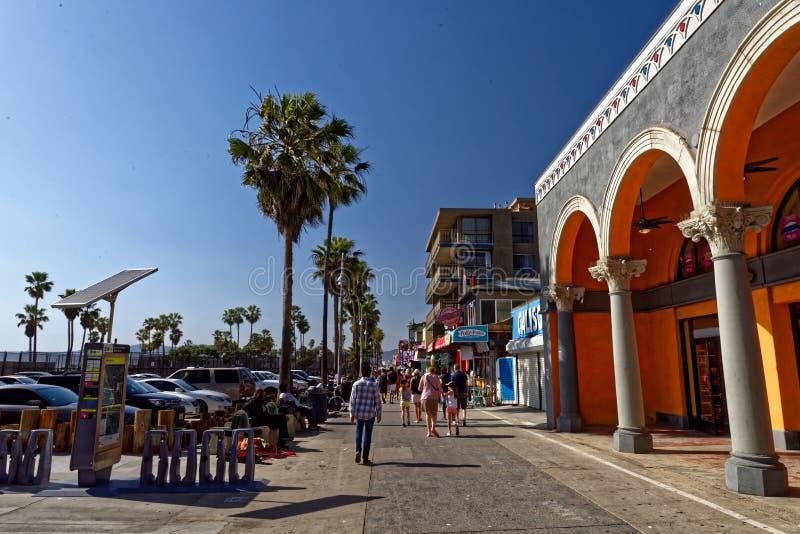 Прогулка на пляже Венеции стоковое изображение rf