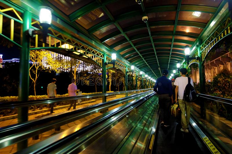 Прогулка ночи стоковое изображение rf