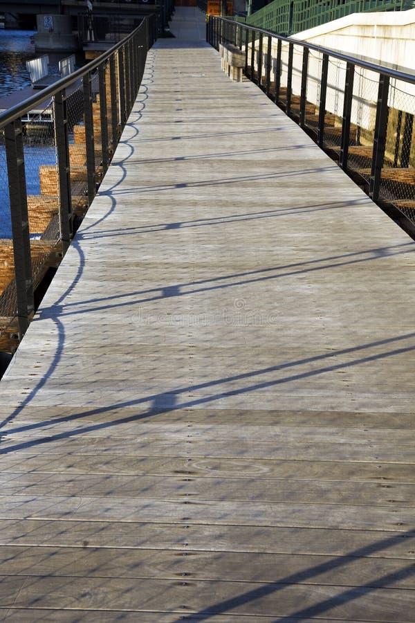 прогулка реки milwaukee новая стоковая фотография rf