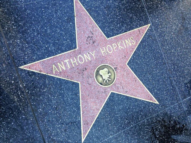 Прогулка Энтони Хопкинс Голливуда звезды славы стоковая фотография rf