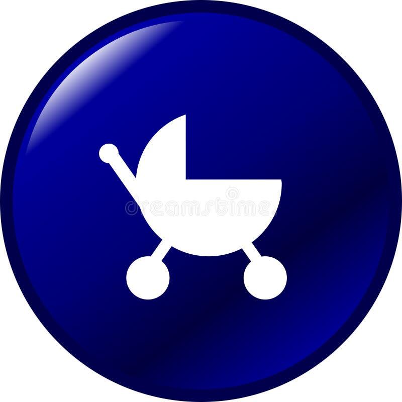прогулочная коляска кнопки младенца иллюстрация штока