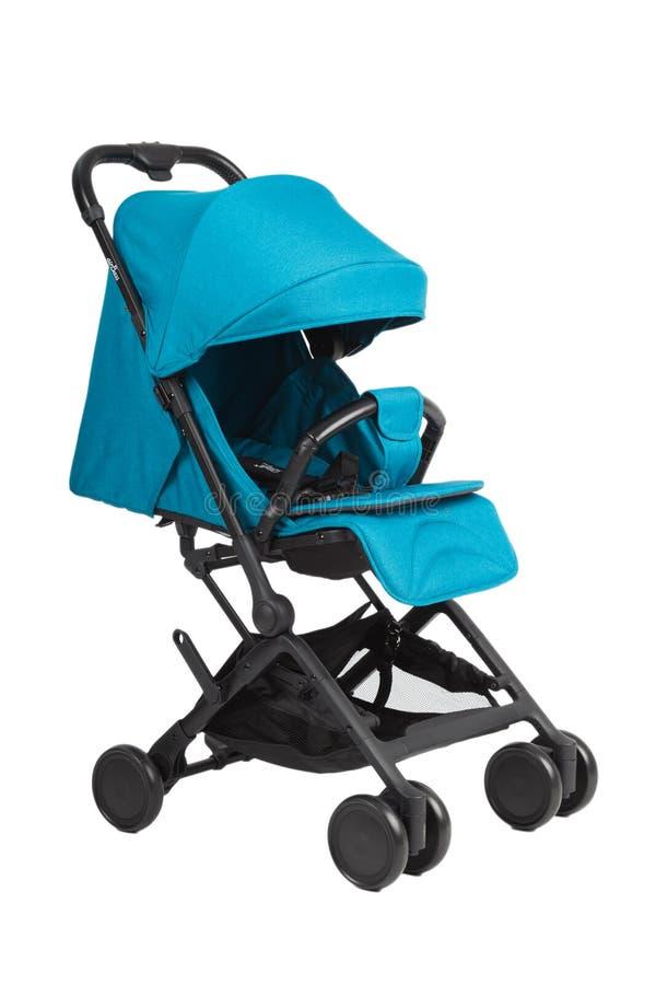 Прогулочная коляска на белой предпосылке, современном дизайне стоковое изображение