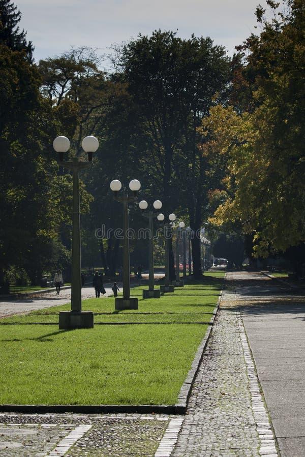 Прогулка в парке Марибора стоковое изображение