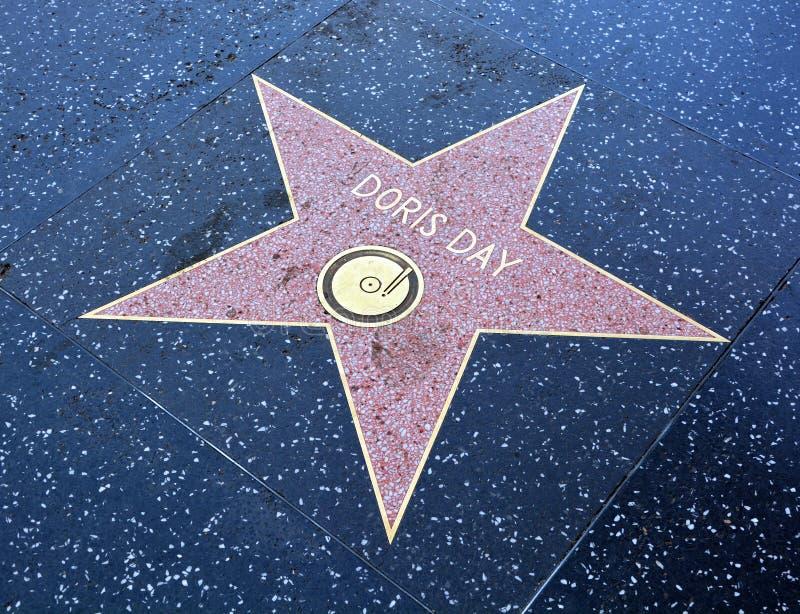 Прогулка звезды славы Дориса Дориса рожденного днем Mary Ann Kappelhoff стоковые фотографии rf