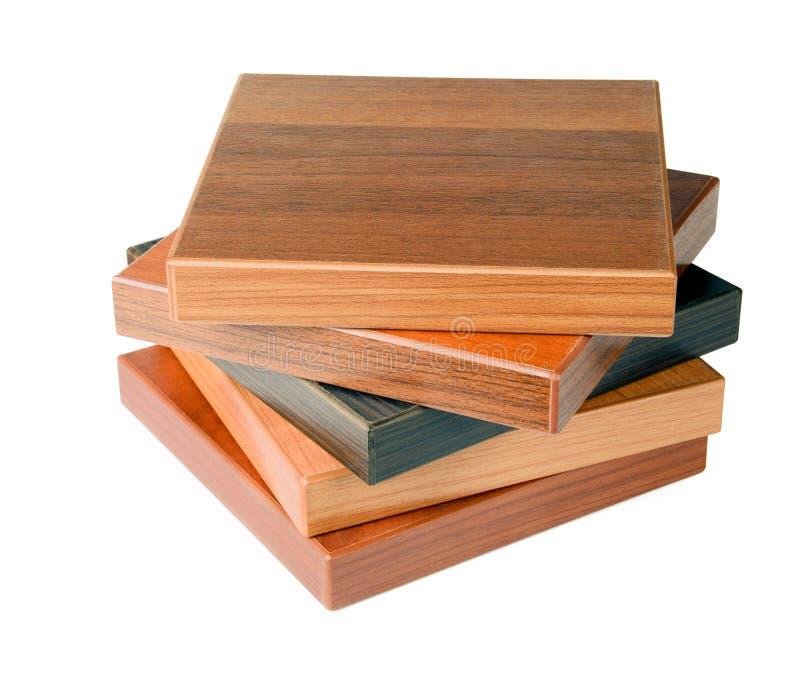 продаваемые выставочные образцы деревянные стоковые изображения