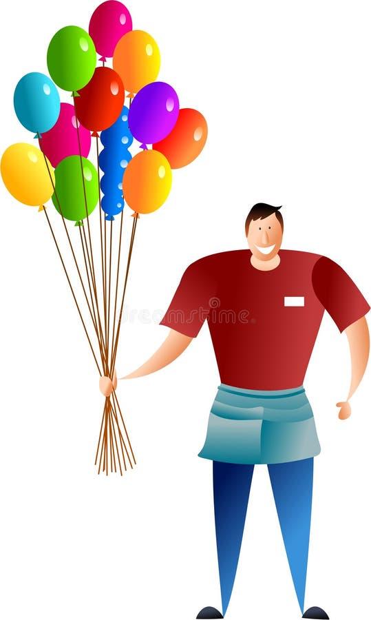 продавец воздушного шара иллюстрация штока