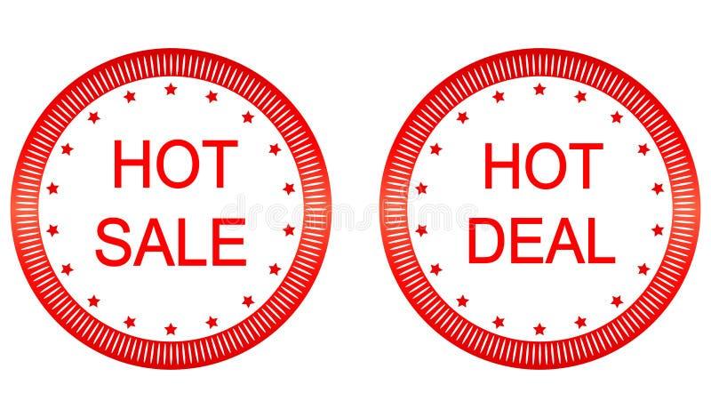 Продажа вектора горячая, горячие ярлыки дела бесплатная иллюстрация