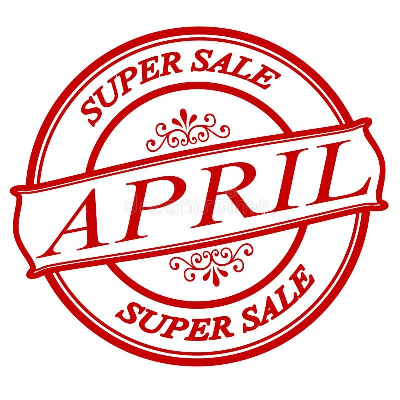 Продажа в апреле супер иллюстрация штока