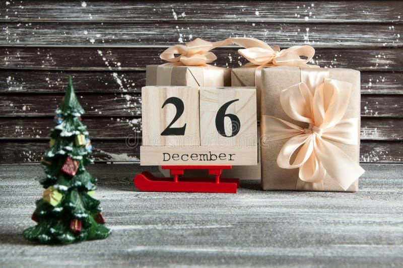 Продажа дня рождественских подарков стоковое изображение