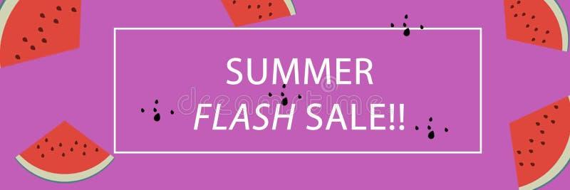 Продажа лета знамени внезапная со для Веб-страницей или мобильной страницей стоковые фотографии rf