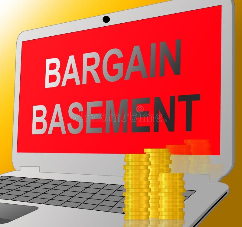 Продажа по сниженным ценам показывая розничные уменьшение и зазор иллюстрация вектора
