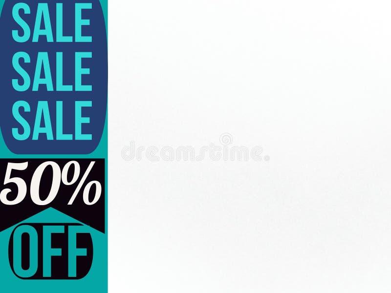 Продажа 50% продажи продажи на один день бесплатная иллюстрация