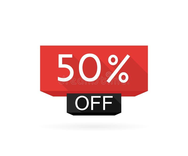 Продажа специального предложения Ярлык цены предложения 50 скидки, символ для рекламной кампании в розничном, маркетинга promo пр бесплатная иллюстрация