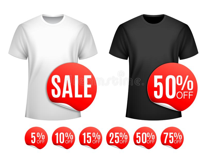 Продажа футболки людей иллюстрация вектора