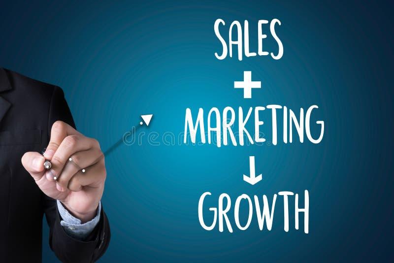 ПРОДАЖИ ВЫХОДЯ CONCECT вышед на рынок на рынок, приборную панель Gra продаж маркетинга клиента стоковое фото rf