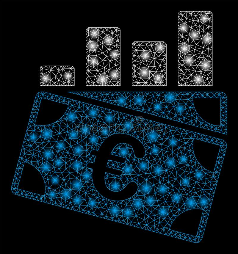 Продажи евро туши сетки пирофакела составляют схему со светлыми пятнами стоковое фото