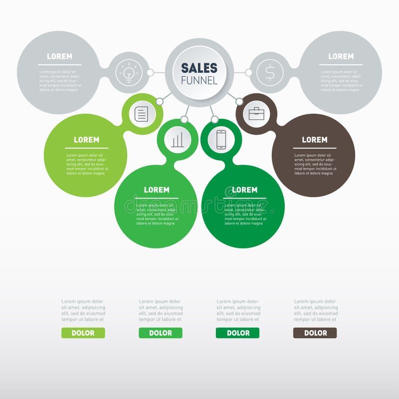 Продажи направляют или представления дела концепция с вариантом 4 или 6 иллюстрация вектора