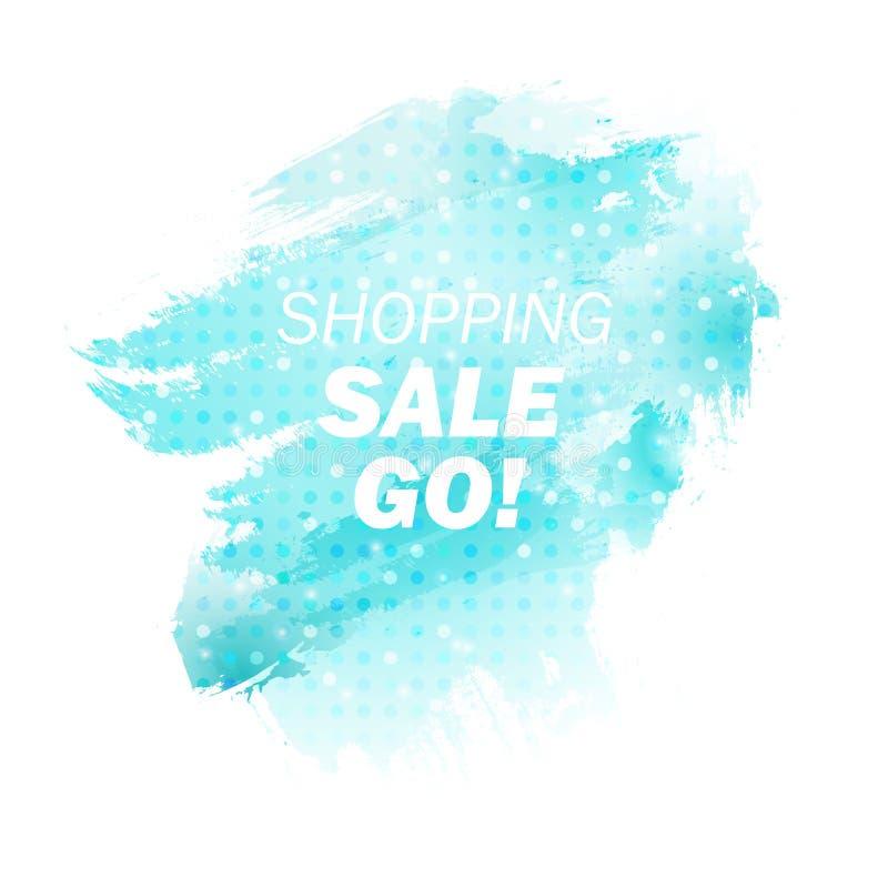 Продаж-магазин-идти-голубой иллюстрация штока