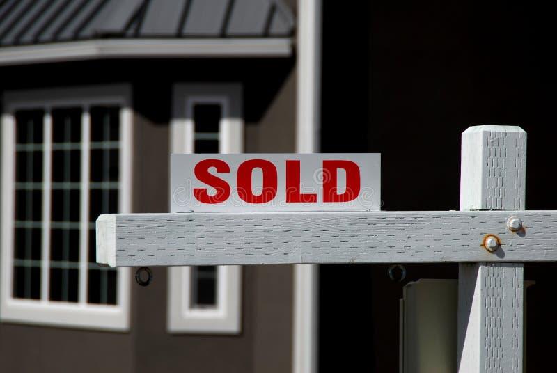 проданная дом стоковое изображение rf