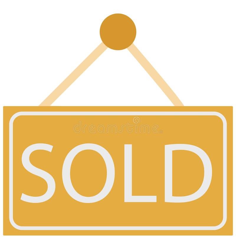 Проданная доска знака, проданные изолированные значки вектора может быть дорабатывает с любым стилем иллюстрация штока
