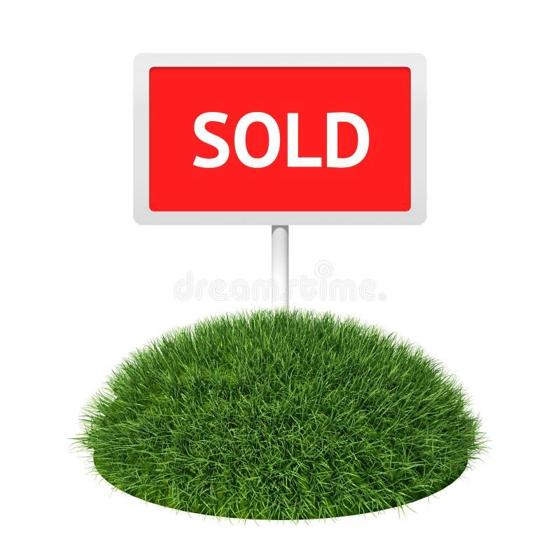 проданный знак травы бесплатная иллюстрация