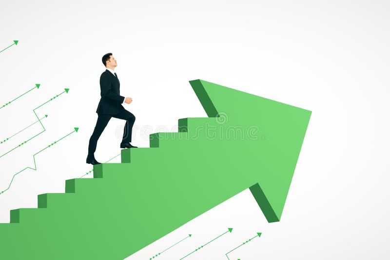 Продвижение карьеры и концепция успеха иллюстрация штока