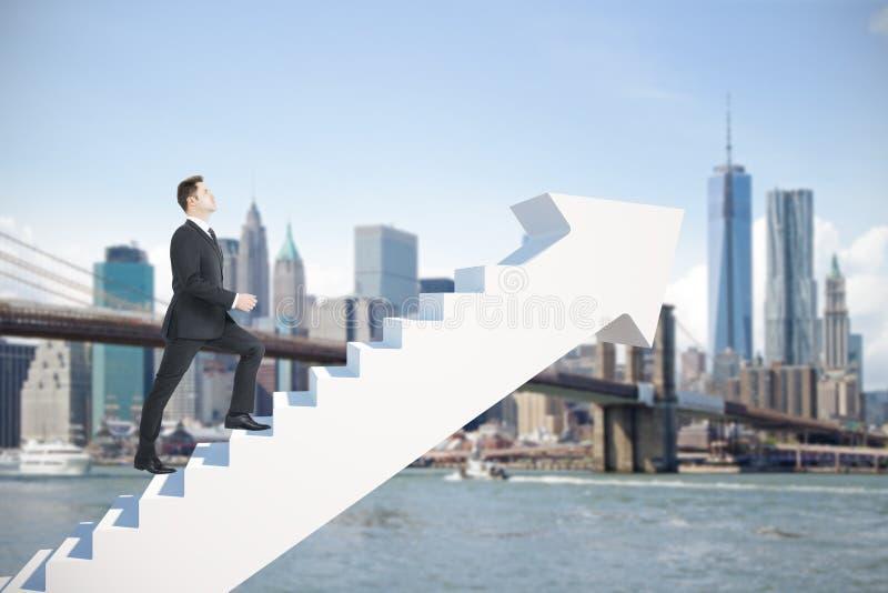 Продвижение карьеры и концепция финансов стоковые фотографии rf