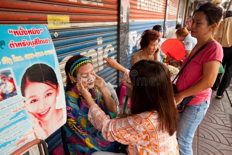 продевать нитку bangkok chinatown стоковое изображение