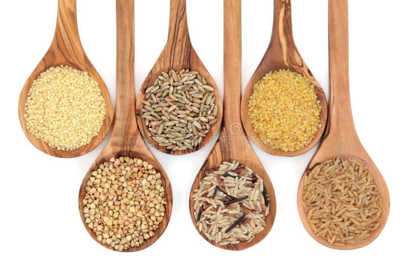 продовольственное зерно хлопьев стоковая фотография rf